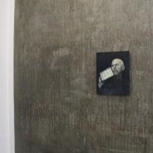 German Exercises, indikativ I, Öl auf Papier auf Holz, Wandmalerei